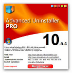 Advanced uninstaller 10.5.4