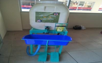 SMK Nasional Berbah Ciptakan Alat Cuci Tangan Injak Portabel